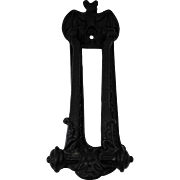 Vintage Cast Iron Gothic Bat Door Knocker