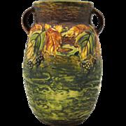 Roseville Blackberry 8 inch Art Pottery Vase
