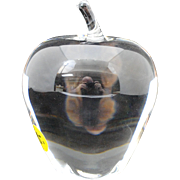 Steuben Crystal Art Glass Apple Paperweight