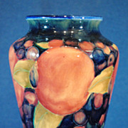 Moorcroft Pomegranate British Art Pottery 7.25 inch Vase