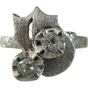 A Vintage Old Cut Diamonds in 14kt White Gold Ring - Nancy