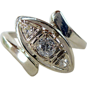 An Edwardian Old Cut Diamonds in 14kt White Gold Unique Engagement Ring - Allison