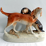 SALE Royal Dux Porcelain Figures of Hounds