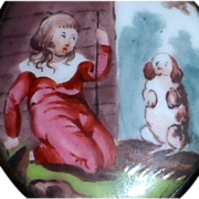 SALE Battersea Bilston Enamel Box, Circa 1800