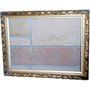 SALE Victorian Wood and Gesso Molded Frame in Original Finish