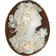 SALE Large Victorian Cameo of the Greek Goddess of the Harvest