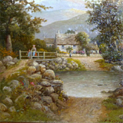 SALE Figures in a Landscape, by Frank Rawlings Offer