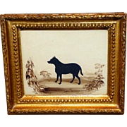 """The Dog, """"Hector,"""" a RARE Early- to Mid-19th Century Hand-Cut Silhouette by ..."""