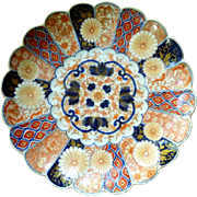 19th Century Japanese Imari Charger With Fukugawa Orchid Mark