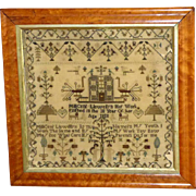 Georgian Early 19th Century Welsh Silkwork Sampler