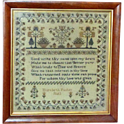 Traditional Silkwork Sampler Dated 1843