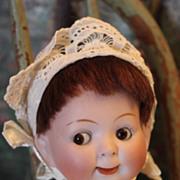 SALE Sweetest Hertel Schwab Googly German mold #163, open mouth, baby body, 1914 era.