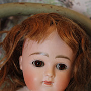 "REDUCED 14"" tall Round Face Kestner Doll, Closed mouth, compo body, Pretty face! Great dr"