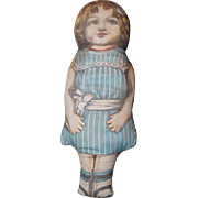 SALE Gorgeous Cloth Printed rag doll, filled with fine sand, vivid colors, sweet faced rag ...