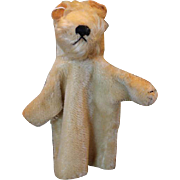 Vintage Mohair Steiff Terrier Dog,  Hand Puppet, no tags or ear pin.