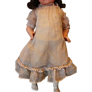 """Sweet Pink polka dot organdy print dress, vintage doll dress for your 18-19"""" tall ..."""