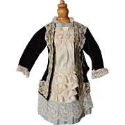 "SALE Lovely French style coat doll dress for your 18-19"" tall Bebe doll! Brown ..."