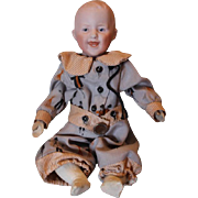 "SALE Smiling Heubach character body doll, Clapper Doll! 8 1/2"" long in size! Bisque ..."