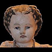 "SALE 22"" tall Sweet Face on this Antique 1850-1860 era doll! Papier Mache shoulderhead .."