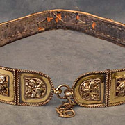 Antique Hungarian Polish Silver Mounted Sword Belt 17th -19th century