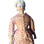 conta and Boehme Parian china in Gorgeous antique promenade dress