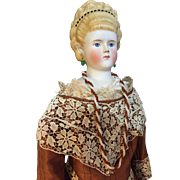 SOLD Empress Agusta Victoria Parian doll with two lovely gowns