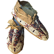 SOLD Nice pair of Teton Sioux moccasins from the early 1900s