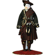 """SOLD Magnificent China boy in Highlander costume 21"""""""