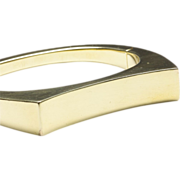 14-Karat Yellow Gold Bangle Bracelet with Concave Top, c. 1980s