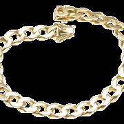 1970s Flat Curb Link Italian Bracelet