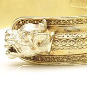 Victorian Gold-Filled Griffin Bracelet, c. 1890
