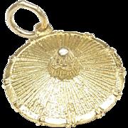 Asian Straw Hat Charm, c. 1970s