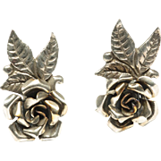 .800 Silver Clip-on Earrings by Peruzzi, c. 1950s