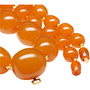Butterscotch Amber Necklace, c. 1960s