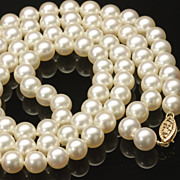 Matinee Length Cultured Pearl Necklace, c. 1980s