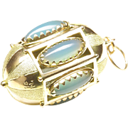 Large 14-Karat Gold Egg-Shaped Pendant or Charm, c. 1965