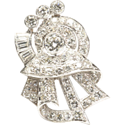Dressy Diamond Pin, late 1930s