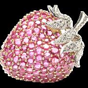 14-Karat Gold Strawberry Pin, c. 1960s