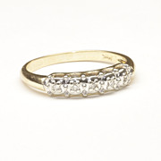Wedding Ring with Five Small Diamonds, c. 1965
