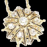 Victorian-Era Diamond Necklace, on Modern Split Chain