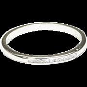 18-Karat White Gold Wedding Ring, c. 1931