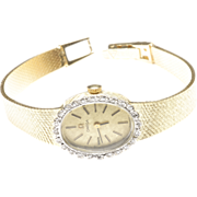 Ladies' Omega Wrist Watch with Diamonds, c. 1980