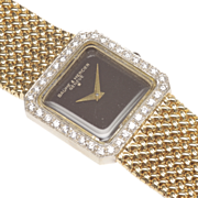 Ladies' Baume & Mercier Swiss Wrist Watch with Diamonds and Mesh Bracelet, c. 1980s