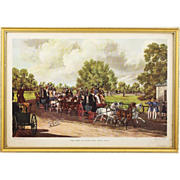 After Fas.Pollard lithograph 'The Four in Hand Club' engraved by J.Harris