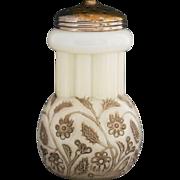 Antique EAPG Findlay Ohio Onyx opaline glass sugar shaker