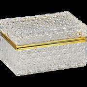 French clear crystal glass trinket or jewelry Casket Box