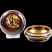 Antique FSC Carlsbad fine porcelain Box with Napoleon decor