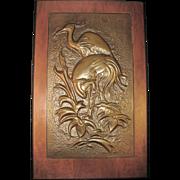 SALE Bruce Fox Studio Hand-Wrought Copper Pair of Regal Ibis