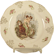 Bavarian Cupid and Maiden Porcelain Plate