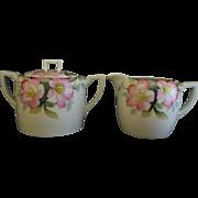 Noritake Creamer and Sugar Bowl Azalea Pattern